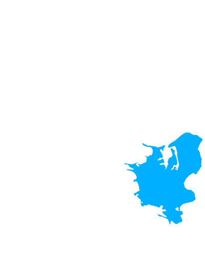 Kort - Daner's dækker Sjælland